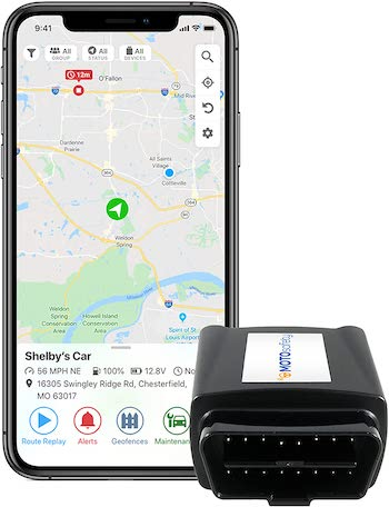 MOTOsafety OBD GPS Car Tracker, Hidden Vehicle Tracker, and Monitoring System