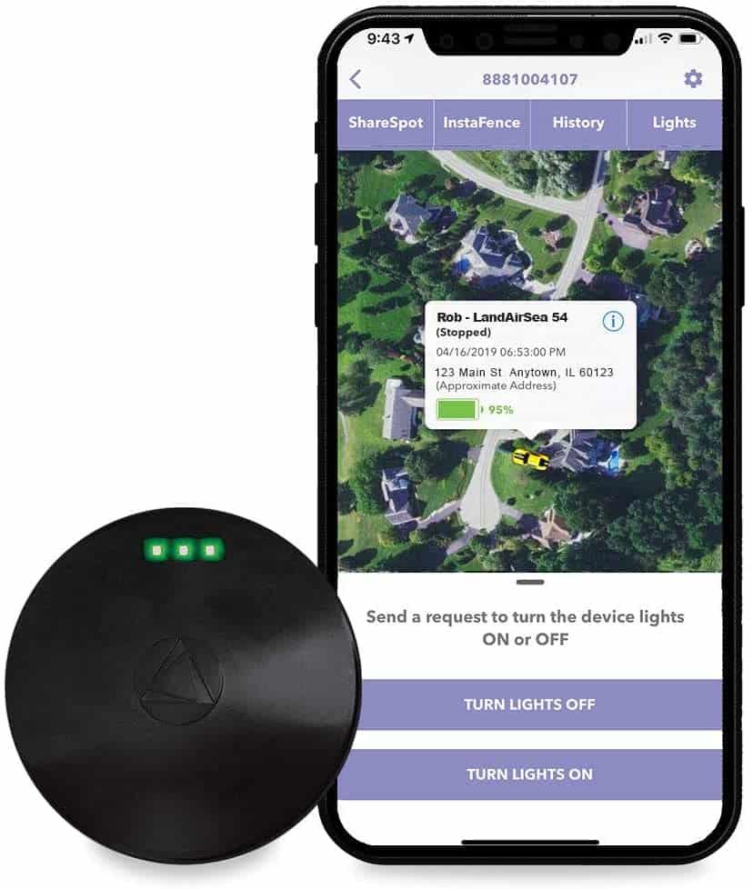 LandAirSea 54 GPS Tracker - USA Manufactured, Waterproof Magnet Moun